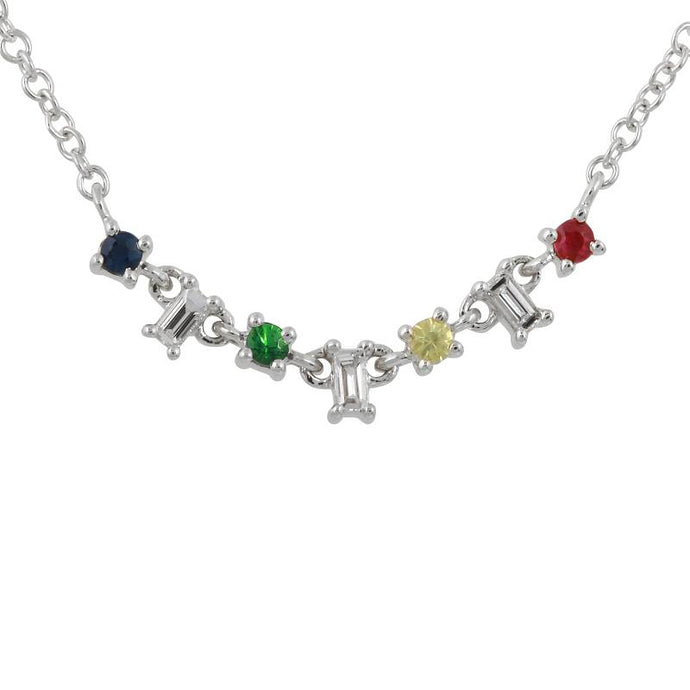 Diamond Rainbow Necklace