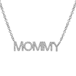 Diamond MOMMY Necklace