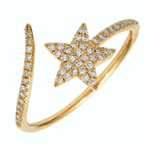 Comet Star Diamond Ring