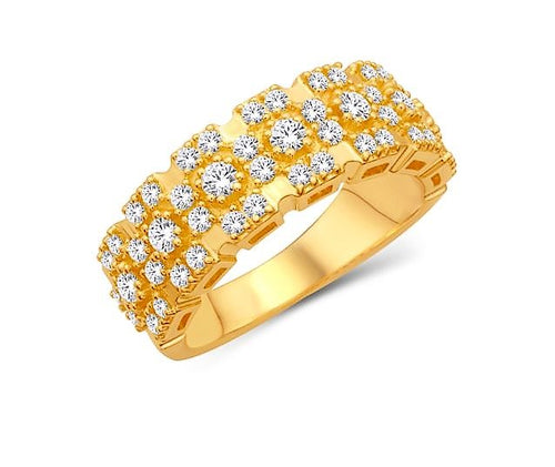 Diamond Semi Crossed Pattern Band