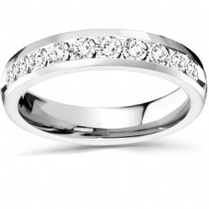 Diamond Channel Set Semi Eternity Ring 0.50ct