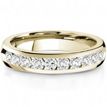 Load image into Gallery viewer, Diamond Channel Set Semi Eternity Ring 0.50ct