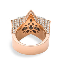 Load image into Gallery viewer, Large Diamond Double Step Star Ring