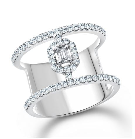 Diamond Ajoure Ring