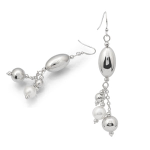 Dangling Mother of Pearl Sterling Silver Earrings