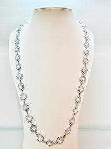 Cubic Zirconia Sterling by The Yard Silver Necklace