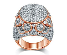 Load image into Gallery viewer, Diamond Half-Eternity Big Pave Flower and Star Band