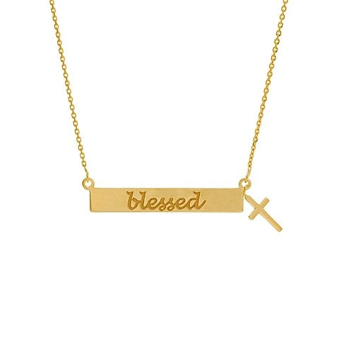 Gold Blessed Horizontal Bar