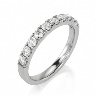 Diamond Prong Set Semi Eternity Ring 0.50ct