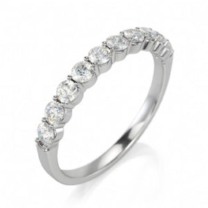 Diamond Shared Prong Set Semi-Eternity Ring 0.50 ct