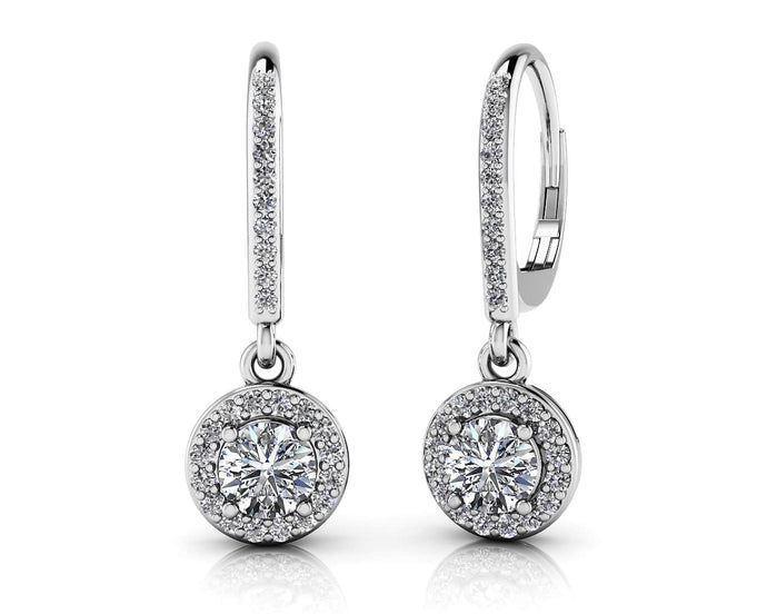 Halo Brilliants Diamond Drop Earrings