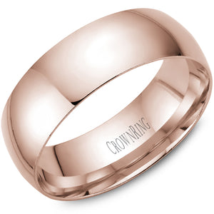 7mm Traditional Half Rounded Comfort Fit Wedding Band in 14 Karat
