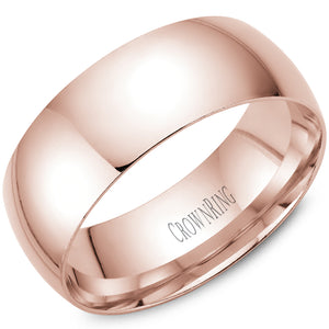 8mm Traditional Half Rounded Comfort Fit Wedding Band in 14 Karat