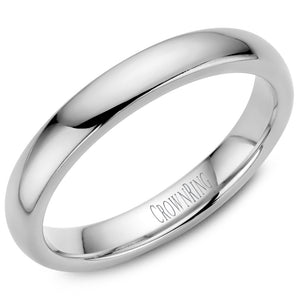 3mm Traditional Half Rounded Comfort Fit Wedding Band in 14 Karat