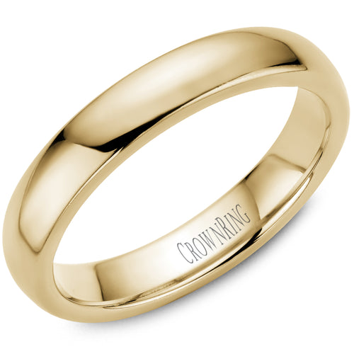 4mm Traditional Half Rounded Comfort Fit Wedding Band in 14 Karat