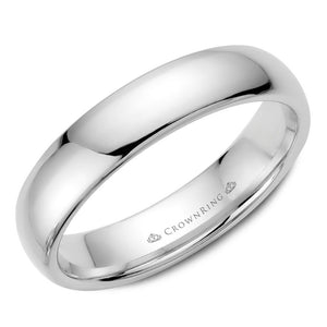 5mm Traditional Half Rounded Comfort Fit Wedding Band in 14 Karat