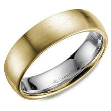 Load image into Gallery viewer, 6mm Satin Finished Dome Comfort Fit Wedding Band Inlayed
