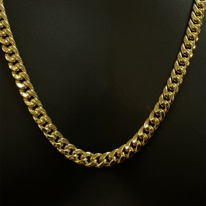 10kt Yellow Gold Miami Cuban Link Chain 8.5 mm 28 inches
