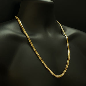 10kt Yellow Gold Miami Cuban Link Chain 6.5 mm 26 inches
