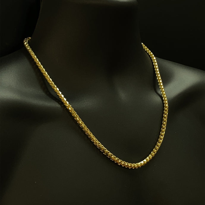 10kt Yellow Gold Solid Franco Chain 5.0 mm 22 Inches
