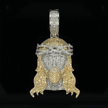 Load image into Gallery viewer, 10kt Yellow Gold Diamond Jesus Pendant 1.20ct