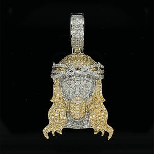 10kt Yellow Gold Diamond Jesus Pendant 1.20ct