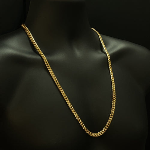 10kt Yellow Gold Miami Cuban Link Chain 6.5 mm 28 inches