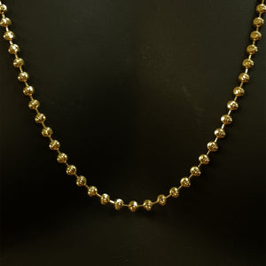 10kt Yellow Gold Moon Cut Chain 5.0 mm 30 Inches