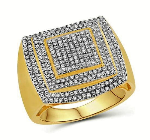 Diamond Triple Pave Ring