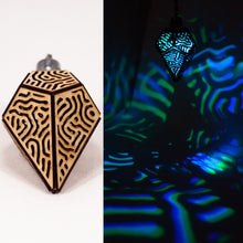Load image into Gallery viewer, The Organic Prism || LED Pendant || Cherry Wood