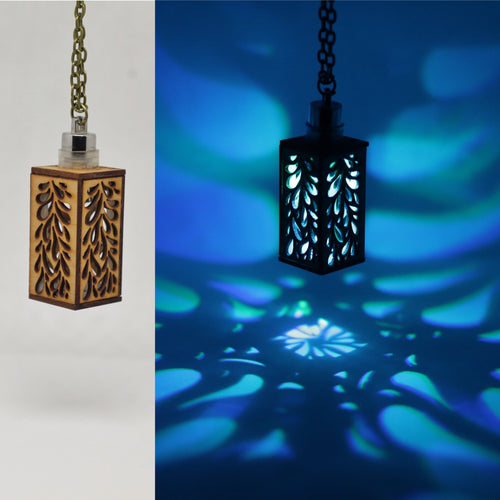 The Drip || LED Pendant || Cherry Wood