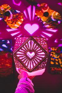 Cubo Love || LampGeo || Rechargeable LED Shadow Lamp