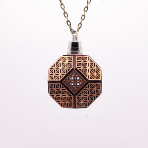 Truncated Flower of Life || LED Pendant || Red Cedar