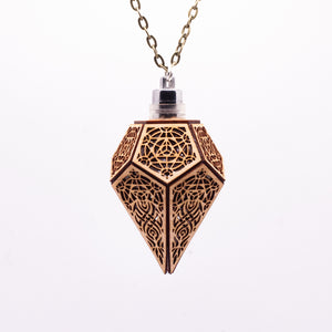 The Sacral Spire || LED Pendant || Cherry Wood