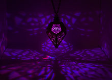 Load image into Gallery viewer, The Sacral Spire || LED Pendant || Cherry Wood