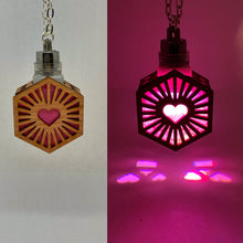 Load image into Gallery viewer, Hexa Heart || LED Pendant || Red Cedar