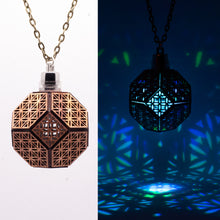 Load image into Gallery viewer, Truncated Flower of Life || LED Pendant || Red Cedar