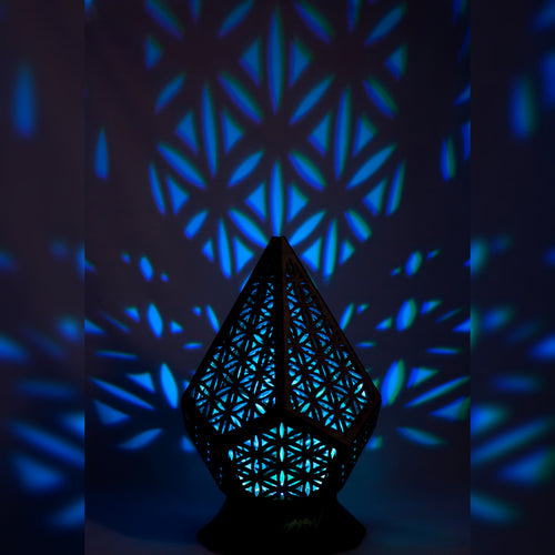 Prismatic Flower of Life || LampGeo || Rechargeable LED Shadowlamp