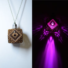 Load image into Gallery viewer, Cubo Love ||LED Pendant || Cherry Wood