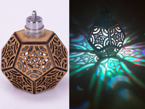 Starfish Dodecahedron || LED Pendant || Cherry Wood