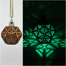 Load image into Gallery viewer, Dodecahedron Rising || LED Pendant || Cherry Wood