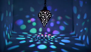 The Bubbly Diamond || LED Pendant || Cherry Wood