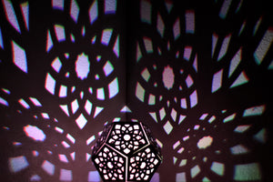 Lotus Dodecahedron || LampGeo || LED Rechargeable Shadow Lamp