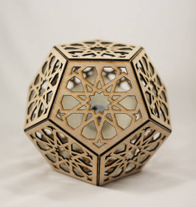 Star Rosette Dodecahedron || BulbGeoXL