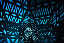 Load image into Gallery viewer, Flower of Life Truncated Octahedron || LampGeo || Rechargeable LED Shadow Lamp