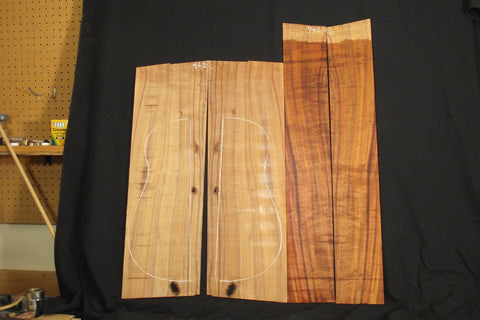 AAA Curly Koa jumbo guitar set #941