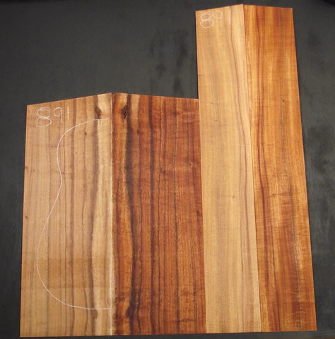 AAA Curly Koa jumbo guitar set #891