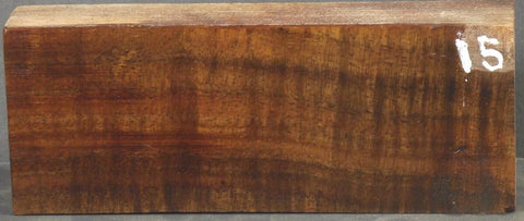 Stabilized Curly Koa Knife scale #15