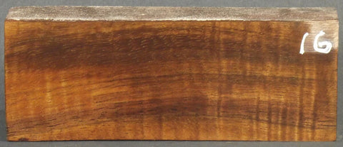 Stabilized Curly Koa Knife scales #16