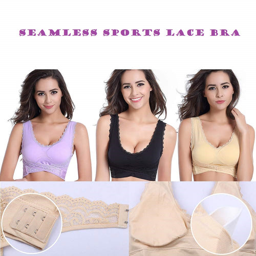 UNIQ Wireless Front Cross Lace Bra